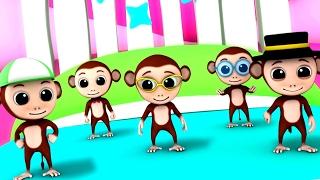 Luke & Lily - Five Little Monkeys | 3D rhymes | Nursery Rhymes | Songs For Children