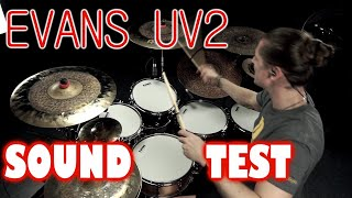 EVANS UV2 SOUND TEST