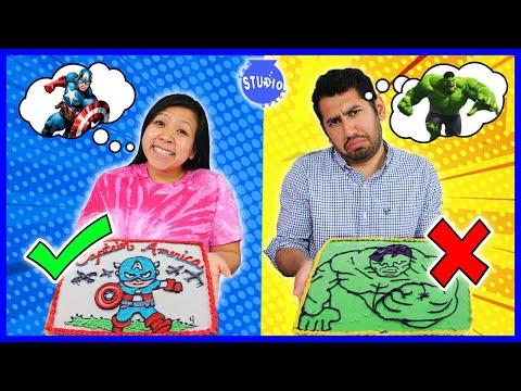 DIY Art Avengers Superhero Cake DIY Challenge! Learn how to make Disney Cake Art!!!