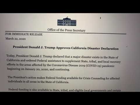 President Trump Approves California Disaster Declaration To Recover From COVID-19 Pandemic