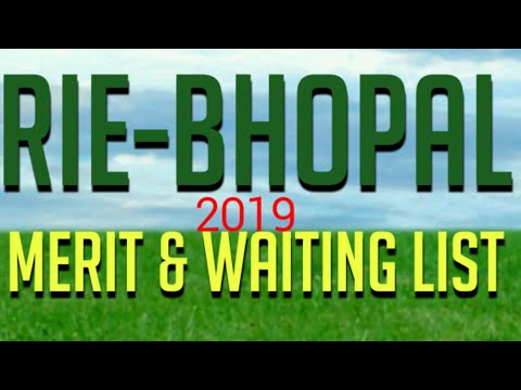 RIE CEE Bhopal|merit List, Waiting List Of Selected Candidates|Fee Counciling Schedule RIE Bhopal