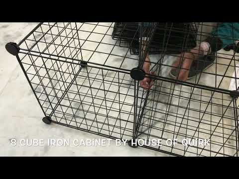 DIY Closet Cabinet Metal Wire Storage Cubes Organizer (8 - Regular Cube)