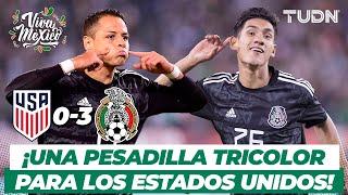 VIVA MÉXICO: ¡TRIPLETA LETAL! México ARRASA con el Team USA   USA 03 México   TUDN