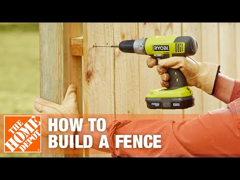 How To Build  A Fence Part 3 | The Home Depot