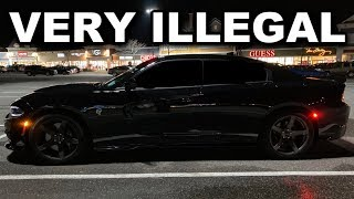 Murdered Out Dodge Charger Hellcat Gets An Illegal Modification