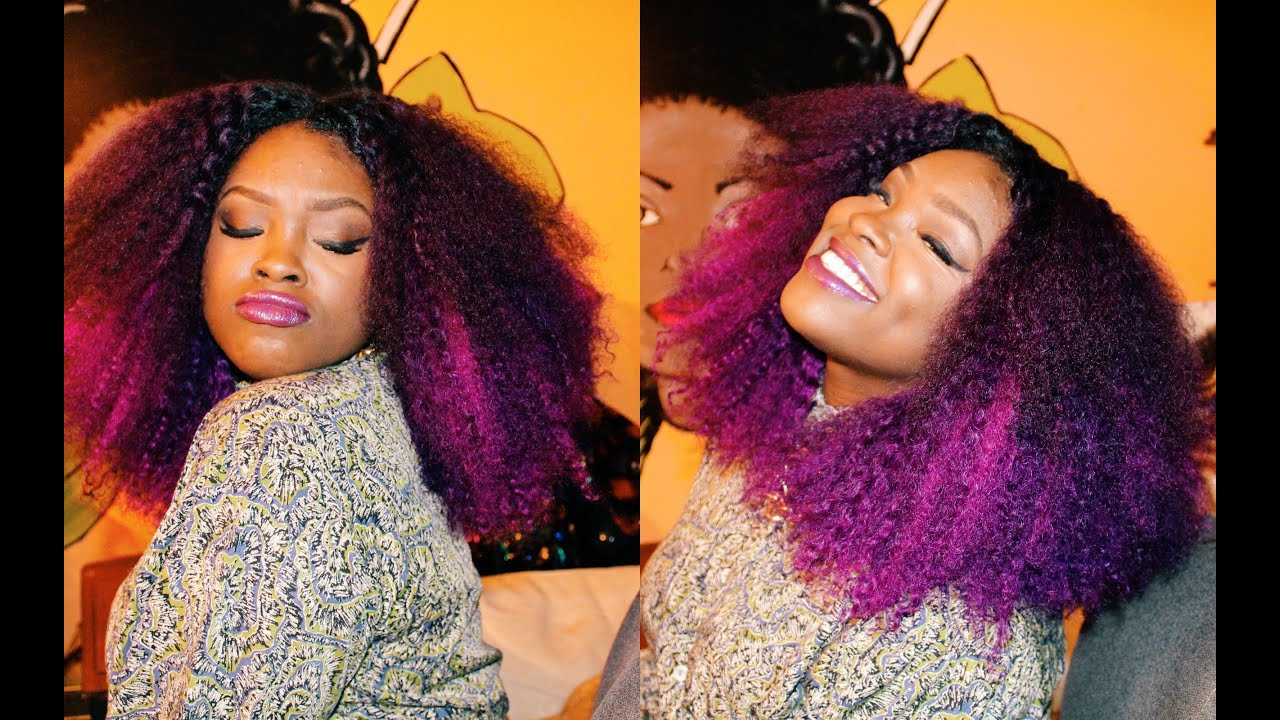 Kinkycurlyyaki Hair Review How To Make A Full Wig With A
