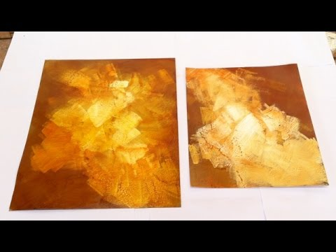 Pintar é fácil - Pintura em tela - Abstrato - Abstrato Express 1