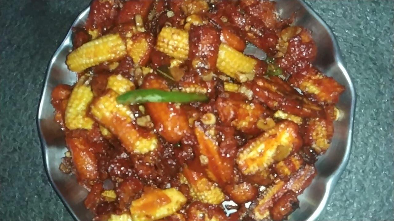 Chilli babycorn recipe | babycorn machurian recipe | easy recipe | Hungers camp | starters recipe