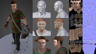 Trevor from GTA 5 dressed like Freddy Krueger (Download on Blendswap) My Sketchfast 7 entry