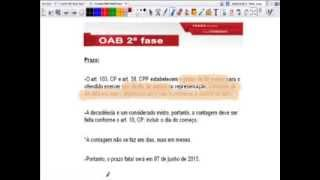 Peça 09, correção QUEIXA-CRIME