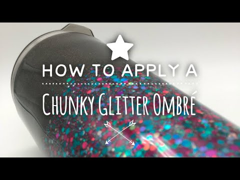 DIY: How to Apply a Chunky Glitter Ombré