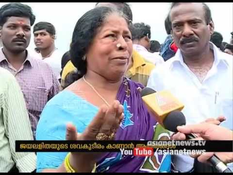 Jayalalithaa's Demise: heavy rush at Marina Beach