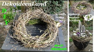 DIY: easy l making a twig wreath from (old) tree trimmings l Fall/ Christmas/ Spring l DekoideenLand