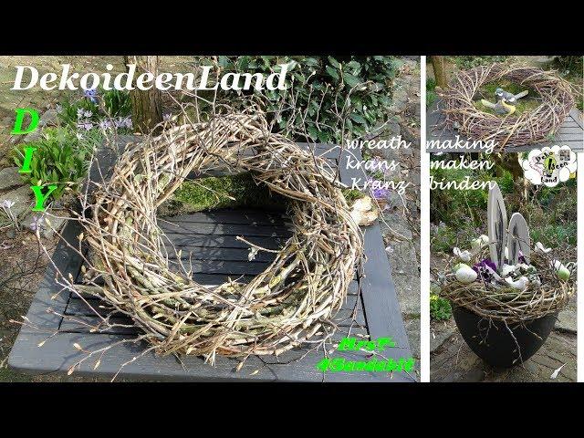 DIY: Frühlings Deko: Kranz Binden Mit Zweige Schnell U0026 Einfach I Krans  Maken I Making A Twig Wreath   Ytube.Org Deutschland