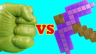 Hulk Family Vs Minecraft Family ! Mega battle ! Superhero Toys