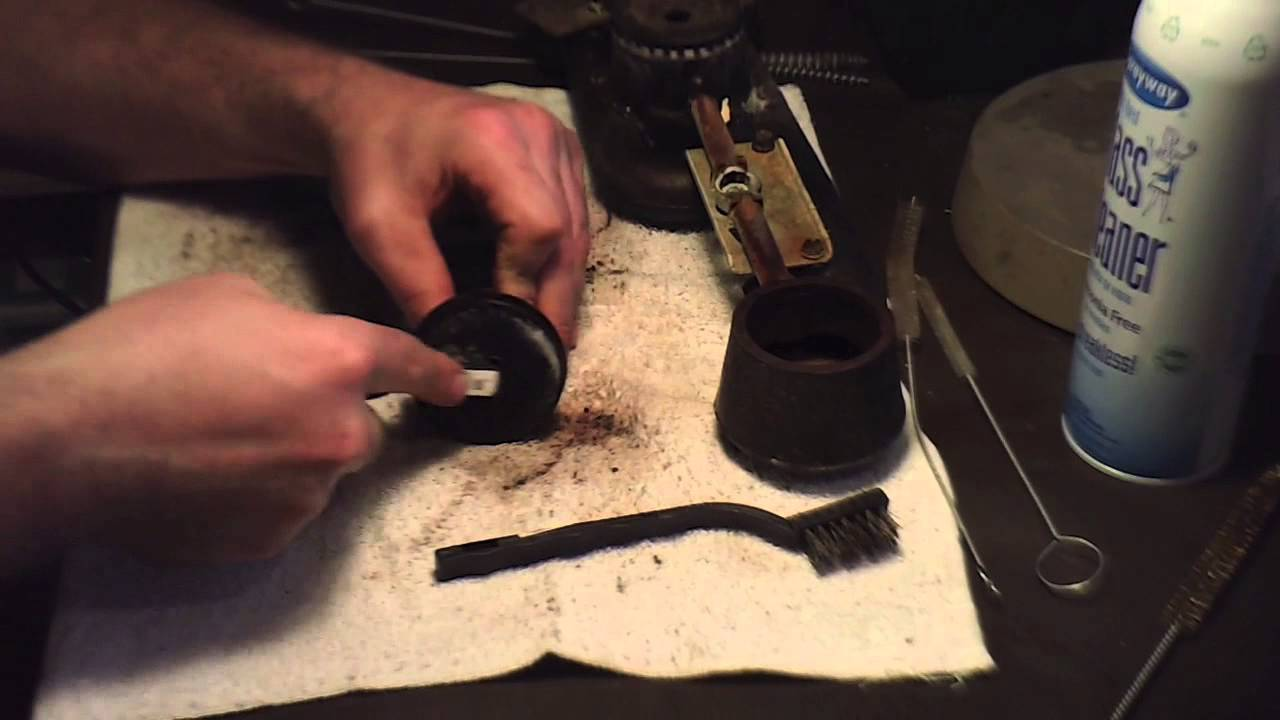 gas burner cleaning - YouTube