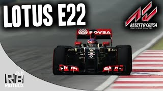 Assetto Corsa F1 2014 Gameplay PC - Lotus E22 Mod at Silverstone