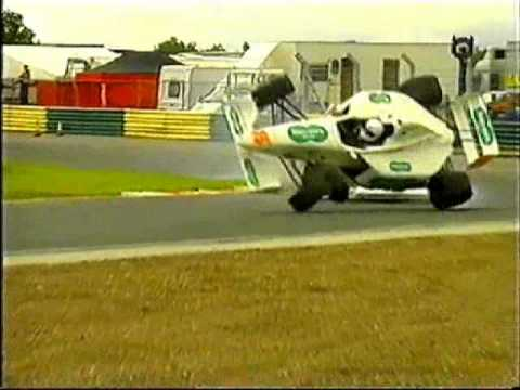 Rob Lofting flips Formula Palmer Audi at Croft 2002