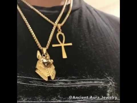 Anpu / Anubis ANKH Gold Chain