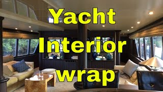 Yacht Interior wrap updating the look  Rm wraps Nov. 2018