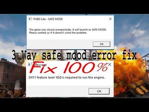 3 way to fix safe mode error in pubg lite | pubg lite fix safe mode | The khanshab