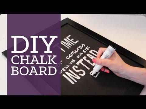 DIY chalkboard room decor | CharliMarieTV