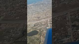 Каспийский берег Дагестан вид с окна самалета