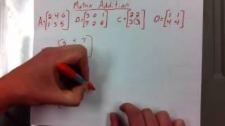 Matrix addition, transpose, trace