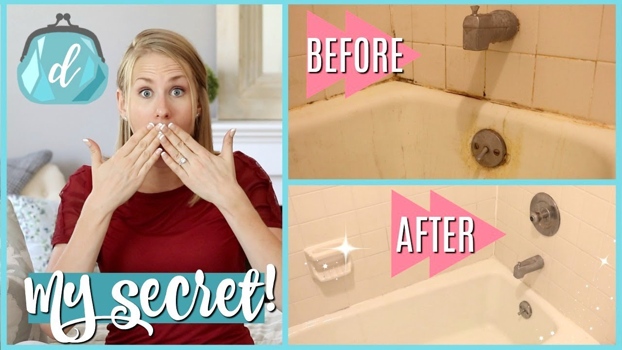 HOW TO CLEAN A MOLDY SHOWER (super satisfying clean with me!)