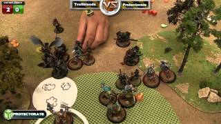 Protectorate of Menoth vs Trollbloods Warmachine Battle Report - Beat The Cooler Ep 92