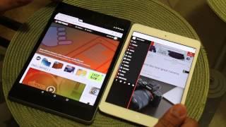 Nexus 9 Lollipop VS iPad Mini Retina Compared