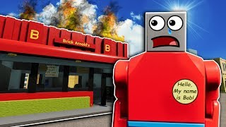 OPENING A McDONALD'S IN AN ONLINE SERVER! - Brick Rigs Roleplay Gameplay - Lego City Job Simulator