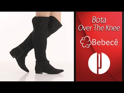 b8a1d35291539 Bota Over The Knee Feminina Bebecê - Preto - 6010380012 - YouTube