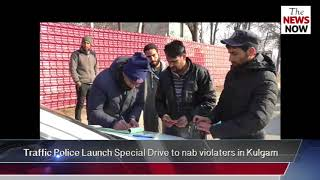 Traffic Police Launch Special Drive to nab violaters in Kulgam