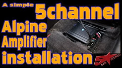 A simple 5 channel Alpine amplifier install in a Hyundai