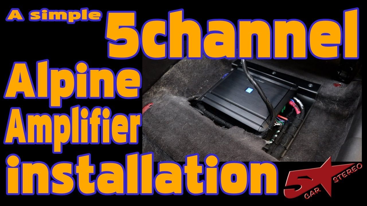 hight resolution of a simple 5 channel alpine amplifier install in a hyundai