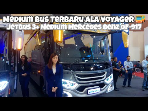 MEDIUM BUS TERBARU ALA VOYAGER - Medium Bus JETBUS 3+ Mercedes Benz OF-917 | GIICOMVEC 2020