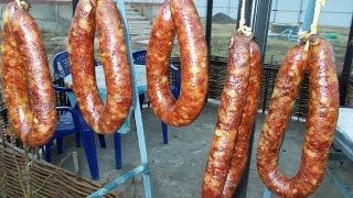 Краковская колбаса и холодное копчение селедки