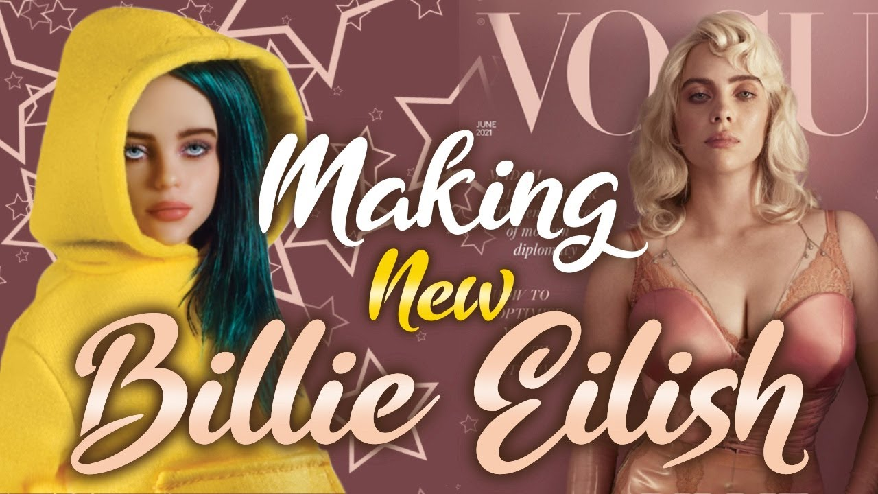 Making NEW BILLIE EILISH DOLL / VOGUE COVER LOOK / HAPPIER THAN EVER /Doll Repaint by Poppen Atelier
