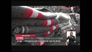 MINISTRO NIETO Y PRIMERA DAMA ENTREGARON AYUDA EN AYACUCHO: TV-7 15AGO17