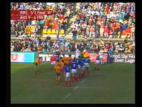 Rugby 1987. Semifinal. Australia V France