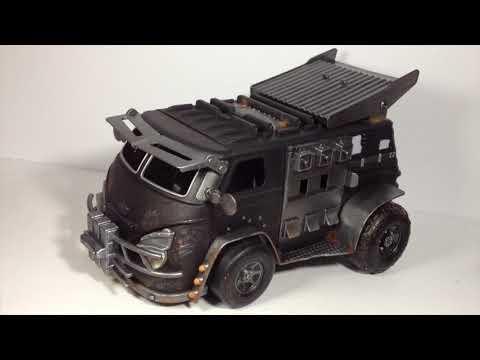 Custom Vehicle Battle Van for 1:12 Scale Action Figures 6 inch Marvel Legends Mezco Punisher