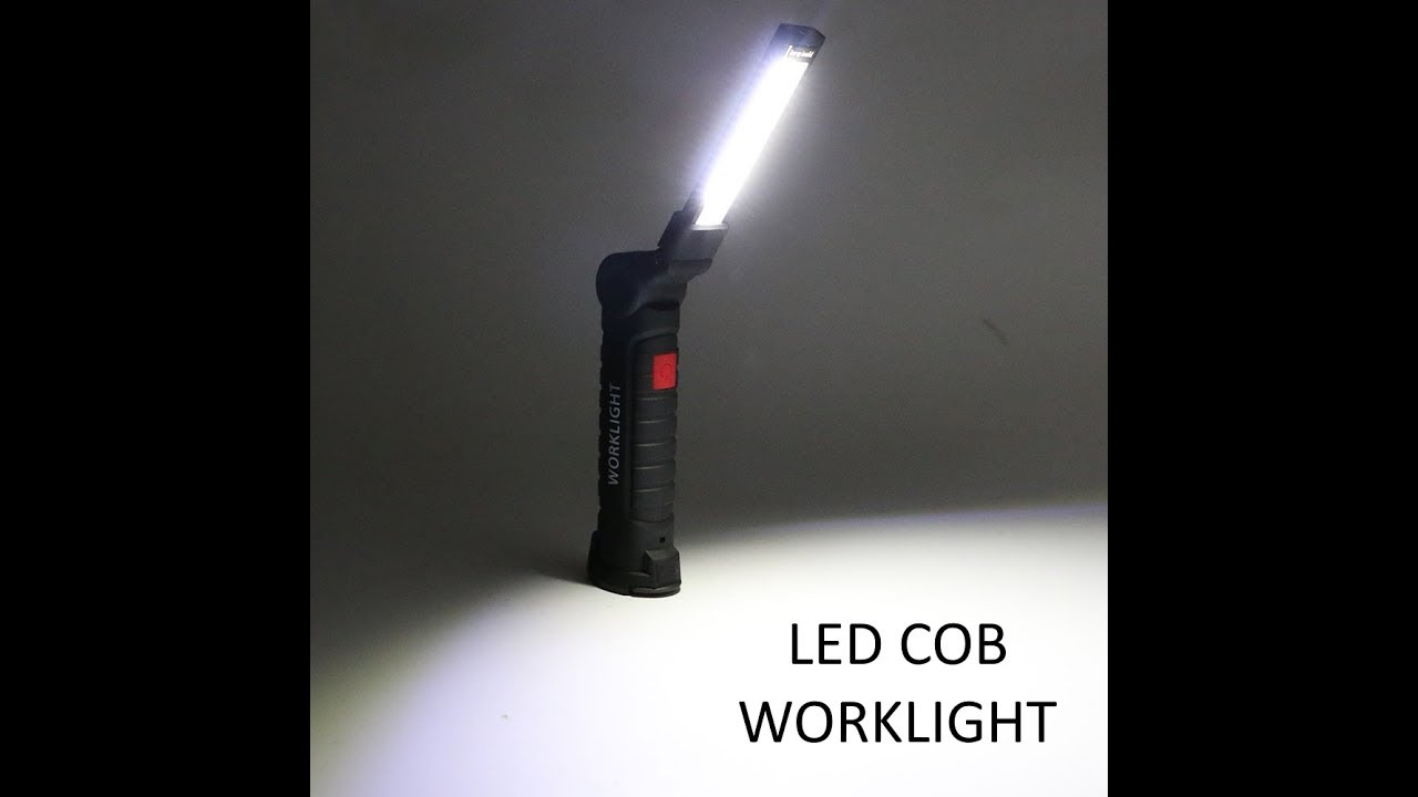 led cob rechargable flashlight review for a home mechanic youtube