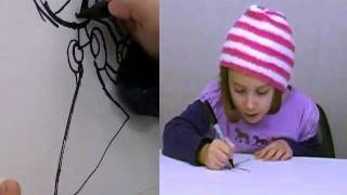 How To Draw a Barbie Princess Like a Kid with 5-Year-Old Jara