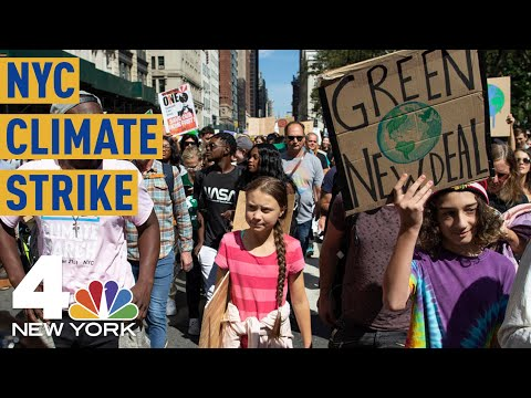 Greta Thunberg, Thousands More March in NYC Climate Strike   NBC New York
