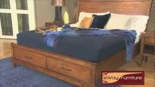 Bombay Sleigh Bed Transitional Bedroom Furniture Set