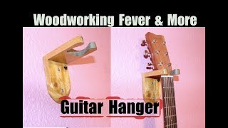 How to make a Guitar Hanger from reclaimed wood