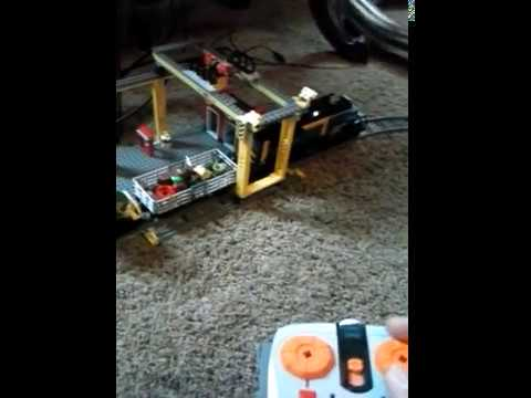 Lego trains in living room part 1