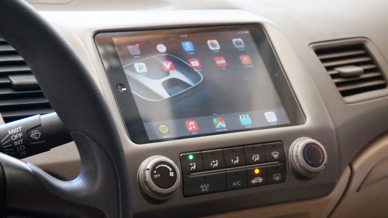 How To Install An Ipad In Your Car Youtube