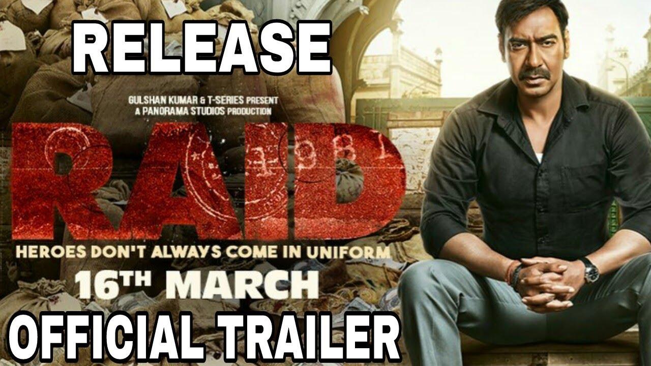 Raid Official Trailer Release date | Ajay Devgan, Ileana D ...